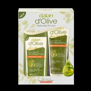 Zestaw produktów dalan d'olive regenerujący szampon i odżywka z oliwy z oliwek