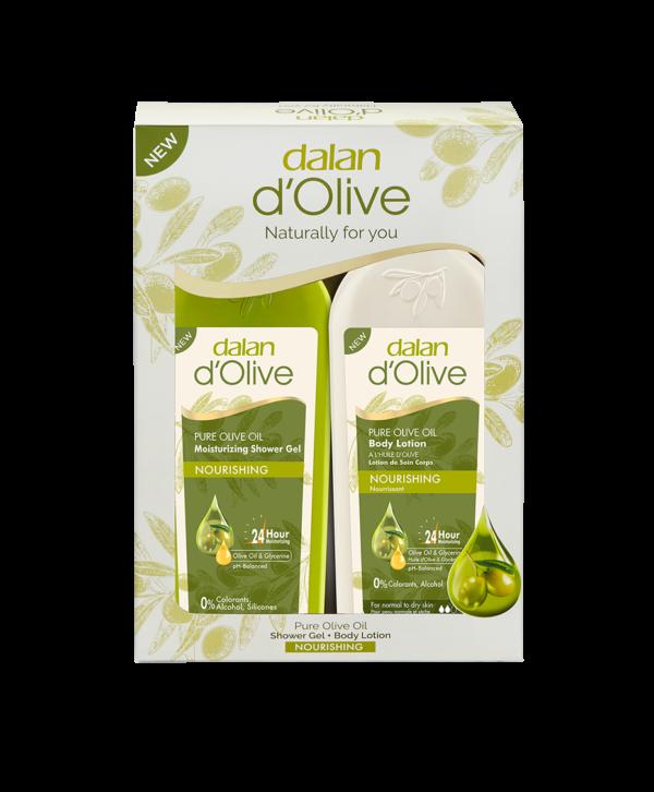 Zestaw produktów dalan d'olive balsam do ciała i żel pod prysznic z oliwy z oliwek